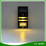 Luz solar ao ar livre da segurança da lâmpada de parede do diodo emissor de luz de PIR 2 para o corredor