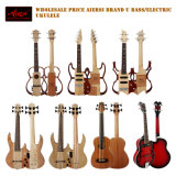 China Aiersi caoba Body Electric Bass Fretless Ukulele