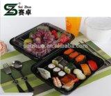 Sushi-Nahrungsmittelpartei-Wegwerfplastikbehälter-Tellersegment mit freier Kappe