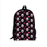 Le sac de livre frais d'école d'impression de crâne Bookbag balade le sac à dos pour des garçons de filles neufs