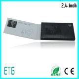 Tarjeta de visita del saludo de Samll LCD de 2.4 pulgadas