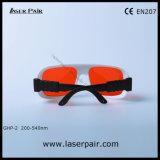 Frame ajustável 36 de óculos de proteção da proteção do laser para o Excimer, ultravioleta, lasers verdes 200-540nm disponíveis para: 266nm, 355nm, 515nm, 532nm