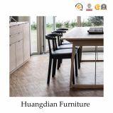 Cadeira de jantar de madeira da cinza moderna do assento do restaurante (HD695)