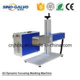 Máquina dinámica de la marca del laser de la fibra 3D de la alta calidad de Sg7210-3D