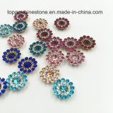 Kristall-Blumen-Greifer-Einstellung des Großverkauf-9mm lose Swaro durch das Nähen auf Glasraupen (TP-9mm Rose rund)