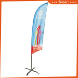 Sandbeach와 옥외 광고를 위한 주문 노란 Waterdrop 기털 깃발