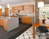 Cozinha moderna do apartamento do projeto norte-americano