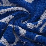 100%年の綿の糸の染められた青い浴室のプールタオル