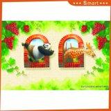 Картина маслом цены 3D Resonable шаржа панды и Giraffe Kungfu