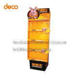 Pop-expositor de cartón del soporte de exhibición Pantalla de papel con ganchos