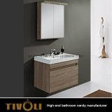 Деревянные малые тщеты ванной комнаты с брить шкафы и зеркало Tivo-0008vh