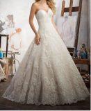 2017 Una línea de tren de encaje vestidos de novia novia CT708