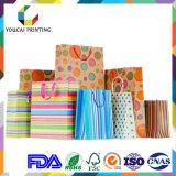 A embalagem oferece impressões de papel personalizados com design gratuito