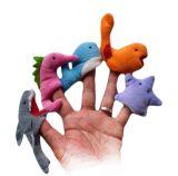 かわいい小型プラシ天動物指のパペット