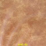 Alto resistente a la abrasión del cuero artificial de la PU para el sofá muebles y calzado
