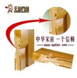 Las puertas de madera compuesta con cristal de Aseo