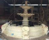 Sandstein Polyresin Material geschnitzter Wasser-Spray-Brunnen