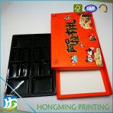 Luxo inserção plástica da caixa de papel do alimento de 2 partes