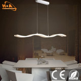 Lámpara pendiente europea de moda de la aleación de aluminio del dormitorio