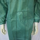 Abito chirurgico a gettare dell'oliva SMS con i polsini lavorati a maglia