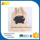 Sacchetto del sacchetto del Drawstring della iuta della tela da imballaggio della canapa del caffè