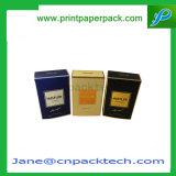 Rectángulo de regalo de papel de empaquetado cosmético impreso aduana del perfume