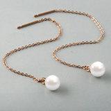 Longues boucles d'oreille populaires de perle de femmes de mode de bijou de boucle d'oreille de baisse