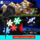 방수 정원 LED 눈송이 프로젝터 RGBW 크리스마스 풍경 파티 라이트