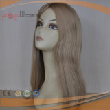 La parte superior de la seda de alta gama peluca Kosher judío (PPG-L-01259)
