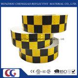 Pellicola riflettente della grata del Legare-Cristallo del PVC 5 cm di disegno di griglia di colori del doppio