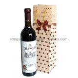 Zak van de Gift van pp de Plastic Melkachtige Witte Berijpte voor Rode Wijn