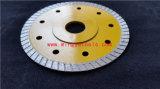 Turbo de malla de RIM de la hoja de sierra de diamante para el mosaico de disco duro de 6 pulgadas de 5 pulg.