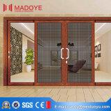 Porte coulissante en verre des graines en bois en aluminium de profil