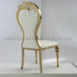 Estilo moderno, sala silla de comedor muebles de acero inoxidable del oro