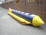 Раздувная шлюпка банана воды, гигантские раздувные игрушки воды