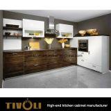 White Cabinets Kitchen with Walnut Veneer Kitchen Cupboards Tivo-0280h