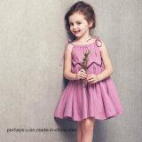 子供の服の女の子は軽くて柔らかいスカートの綿の王女をプリーツをつけたDress