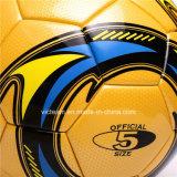 Прочные шарик футбола размера 5 PU материальные прокатанный