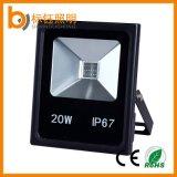 공장 방수 IP67 AC85-265V 옥외 Ultrathin 영사기 정원 20W LED 플러드 빛