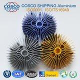 Profil en aluminium personnalisé pour dissipateur thermique avec l'anodisation et de l'usinage