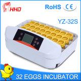 Incubateur automatique Yz-32A d'oeufs de poulet de vente chaude de Hhd