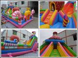 娯楽(T6-030)のための巨大で膨脹可能なおもちゃの遊園地の弾力がある城