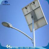 6m mono pole conique lampe LED du panneau solaire de l'éclairage de rue