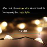 Luz da corda da potência solar de 100 diodos emissores de luz para luzes de Natal ao ar livre