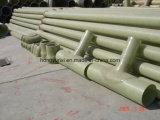 Codo de la vinculación de la fibra de vidrio de las instalaciones de tuberías de FRP