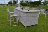 Conjunto de Bar de Móveis de Rattan de Jardim com Almofada para Exterior (TG-6003)