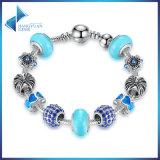 Monili blu antichi dei braccialetti di fascino dei branelli di Murano del braccialetto & della parte superiore di fascino