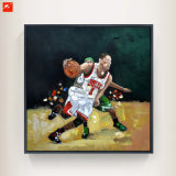Handmade Wall Picture Basketball Player Canvas Painting