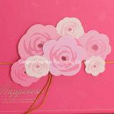 Sac de papier de empaquetage du cadeau des dames dans la couleur rose