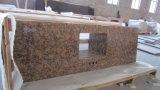 Gialloの装飾用の台所花こう岩または大理石のカウンタートップ
